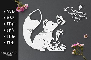 Little Woodland Fox - Cut File