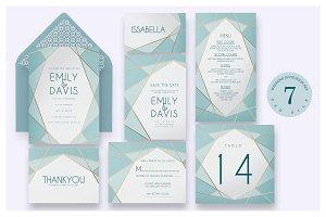 Geometric - Wedding Invitation Ac.58