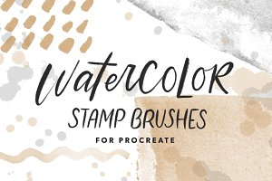 Procreate Watercolor Stamp Brushes
