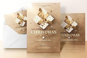 Christmas Invitations Psd Package v2