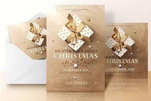 Christmas Invitations Psd Package v2
