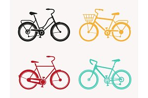 Bicycle Vector. Bike icon vector.