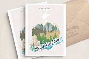 West Virginia. USA travel poster