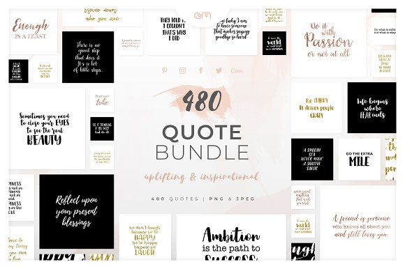 Welp 480 Quotes Bundle   Creative Social Media Templates ~ Creative Market ML-01