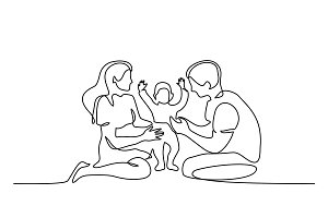 Family concept Father, mother and
