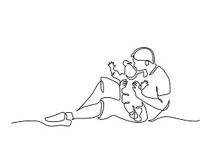 Family concept Father and child