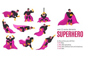 Superhero Flat Set