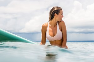 Surfing all day long.
