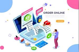 Statistics Online Services Concept