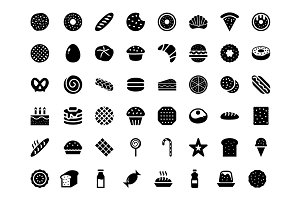 80 Bakery Vector Icons