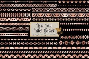 Rose Gold Tribal Borders
