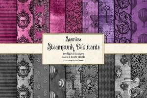 Steampunk Debutante Digital Paper