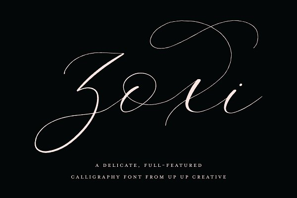 Fonts: Up Up Creative - Zoxi, a Calligraphy Script Font