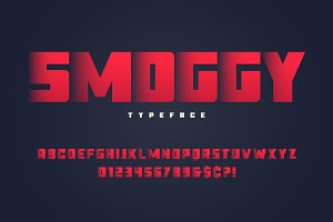 Smoggy heavy display font design