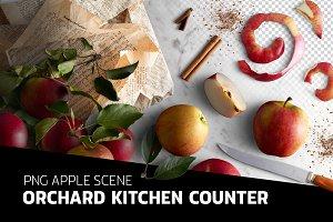 PSD Apple scene