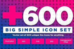 +600 Simple Icons - pack