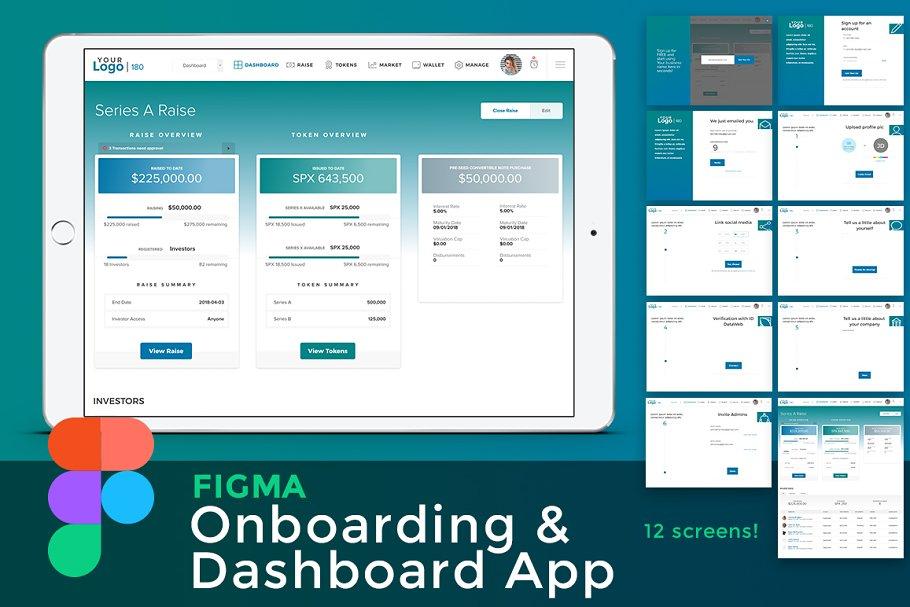 Figma Onboarding & Dashboard App
