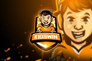 Kidswin - Mascot & Esport Logo