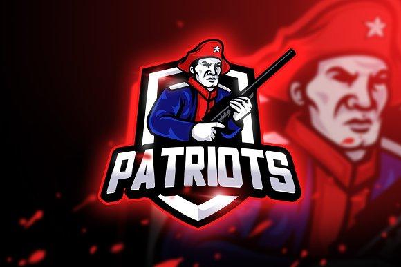 Patriots Gaming-Mascot & Esport Logo