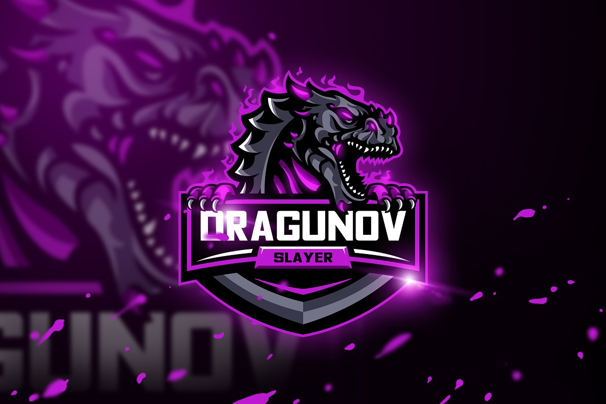 Dragunov Slayer-Mascot & Esport Logo in Logo Templates - product preview 8