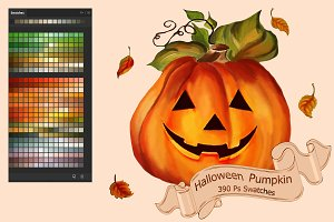 Halloween Pumpkin Ps Swatches