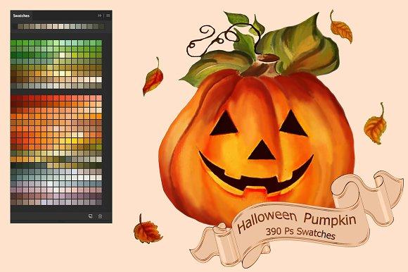 Halloween Pumpkin Ps Swatches