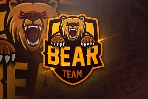 Bear Team - Mascot & Esport Logo