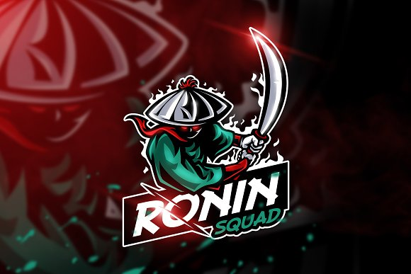 Ronin Squad - Mascot & Esport logo