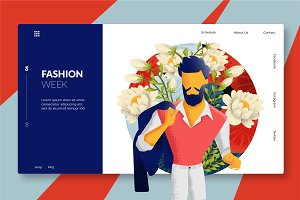 Male Fashion - Banner & Landing Page
