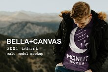 Tshirt Mockup Mens Bella Canvas 3001 by  in Product Mockups