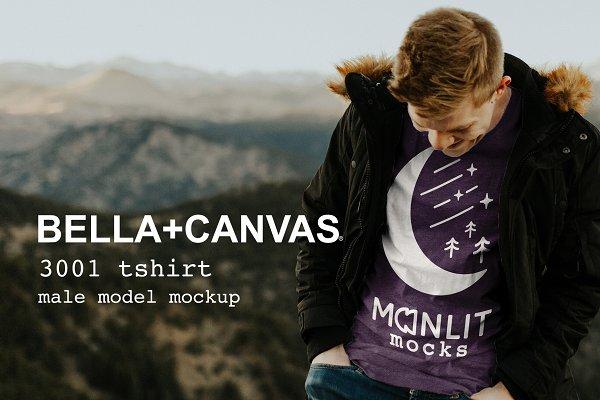 Product Mockups: Moonlit Mocks - Tshirt Mockup Mens Bella Canvas 3001
