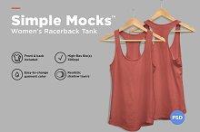 Women's Racerback Tank Mockup by  in Product Mockups