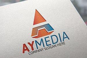 Letter A Logo /Ay Media