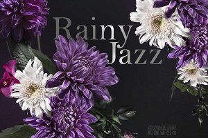 Rainy Jazz hand curated clip art