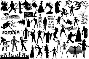 Zombies & Creepies AI EPS PNG