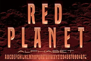 Red Planet Titling Alphabet