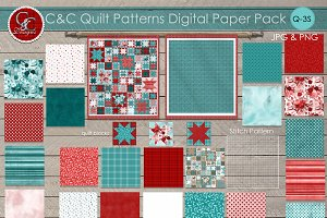 22 Quilt Patterns  Paper Pack Q-S1