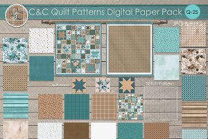 22 Quilt Patterns Paper Pack Q-2S