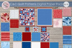 22Quilt Patterns Paper Pack Q-S1
