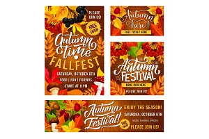 Autumn festival flyers and poster