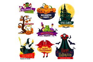 Halloween party symbols