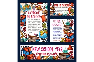 Back to school sketch banners