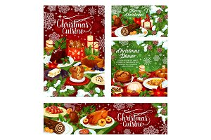 Christmas dinner posters