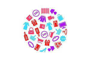 Shopping Set. Vector