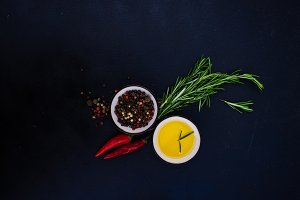 Organic spices concept