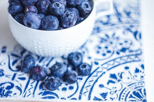 Food Stock Photos: Anna Bogush - Organic blueberries