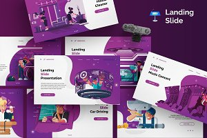 Landing Slide - Keynote Template