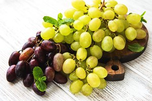 Fresh green grape