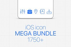 iOS Icon Mega Bundle 1750+