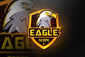 Eagle Scope - Mascot & Esport Logo